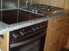 Küche (Elektroherd + Gasherd)